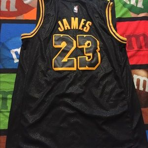 Lakers James Black Mens Jersey sizes s-2xl